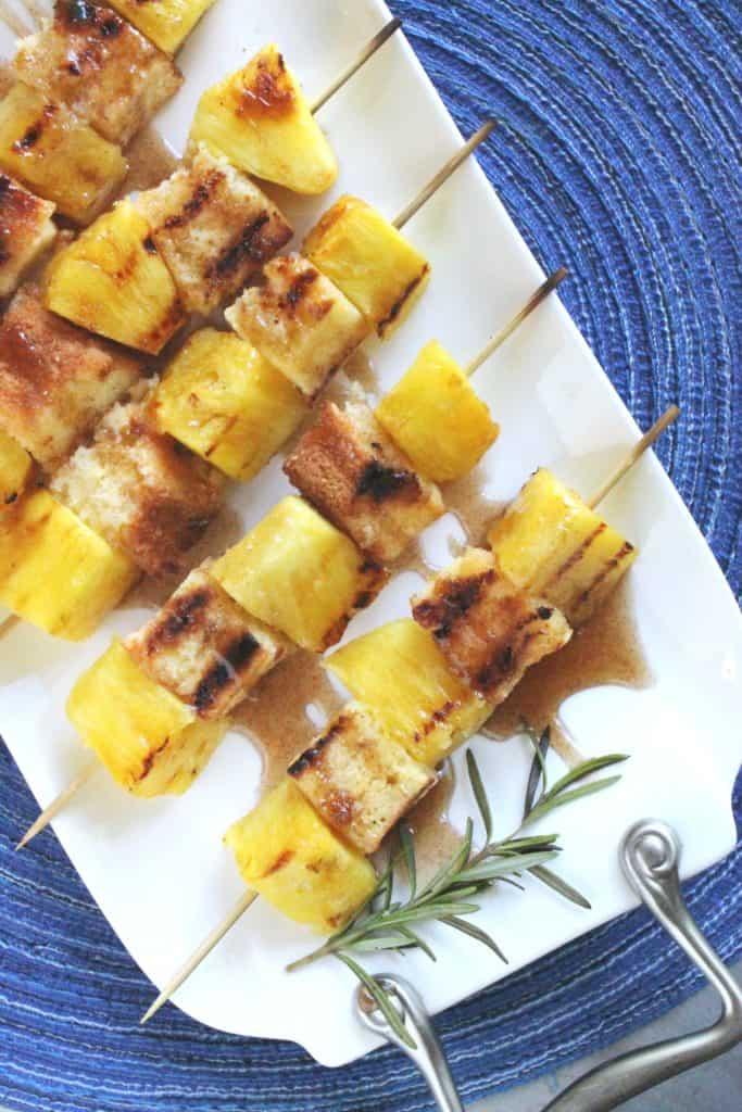 Grilled Pineapple Poundcake Kabobs 4