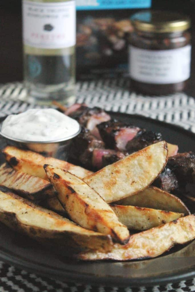 Grilled Potatoes Wedges with Truffle Aioli 3