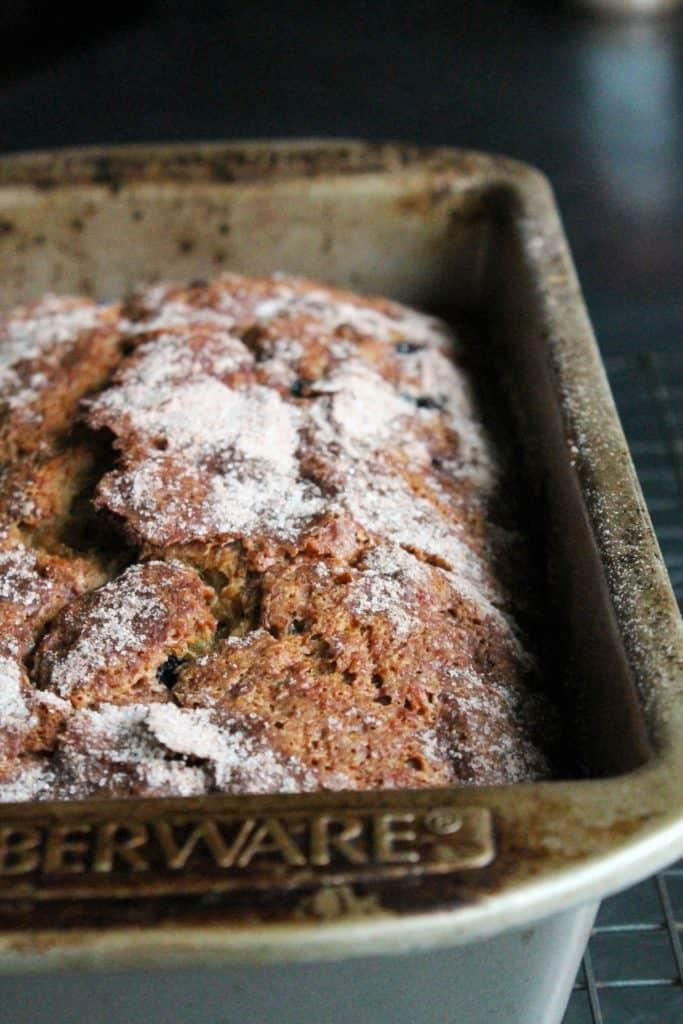 Cinnamon-Sugar Blueberry Banana Bread 4