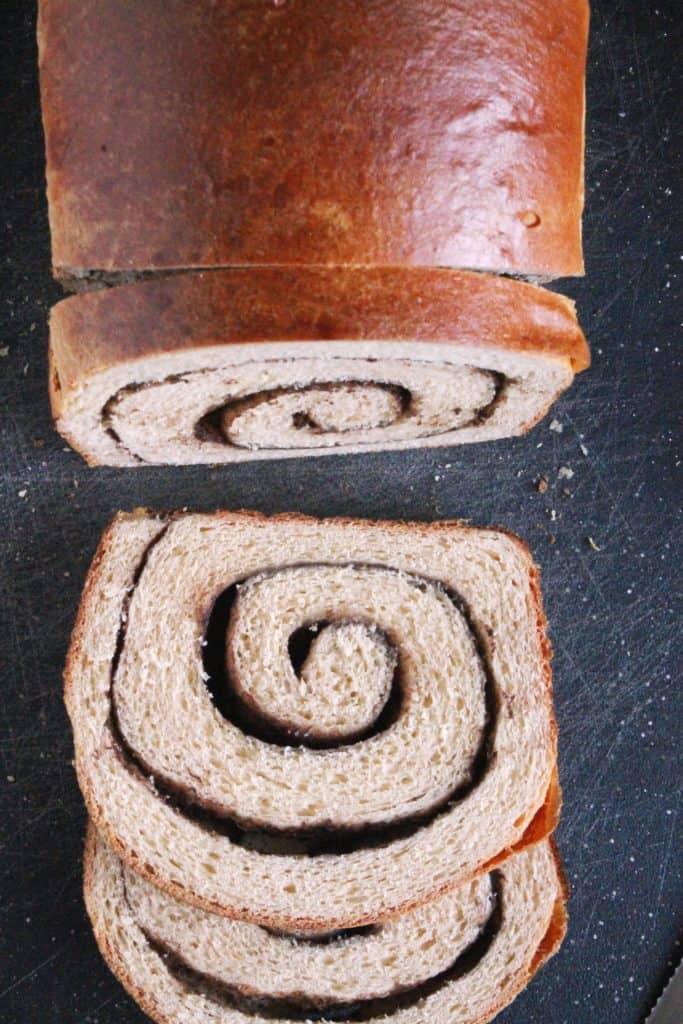 Peanut Butter Chocolate Swirl Bread 2