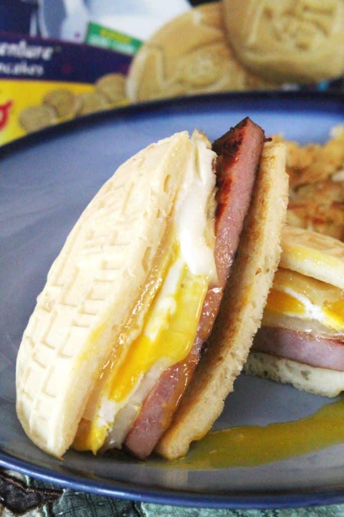 Ham, Egg & Cheese Pancake Sandwiches 5