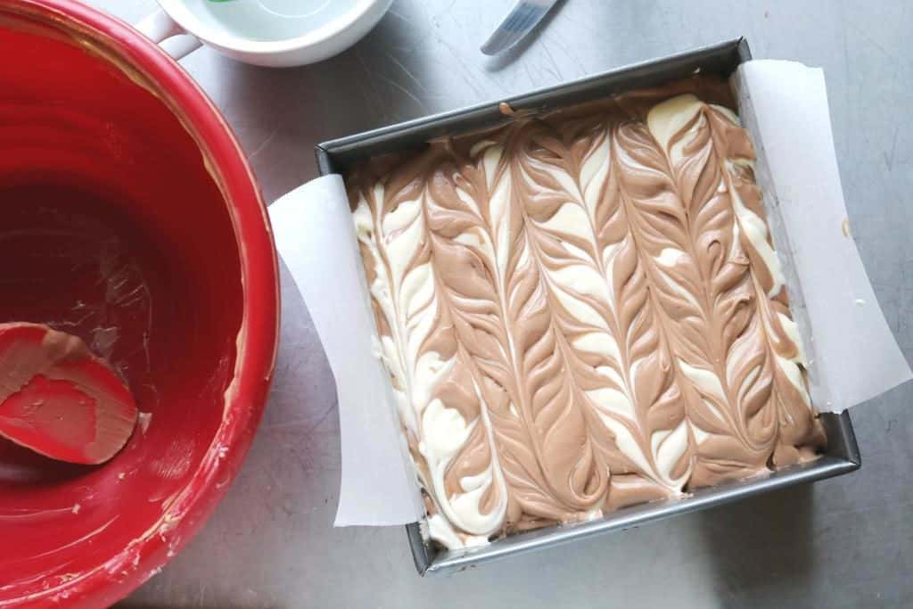 Nutella Swirl Cheesecake Bars 1C