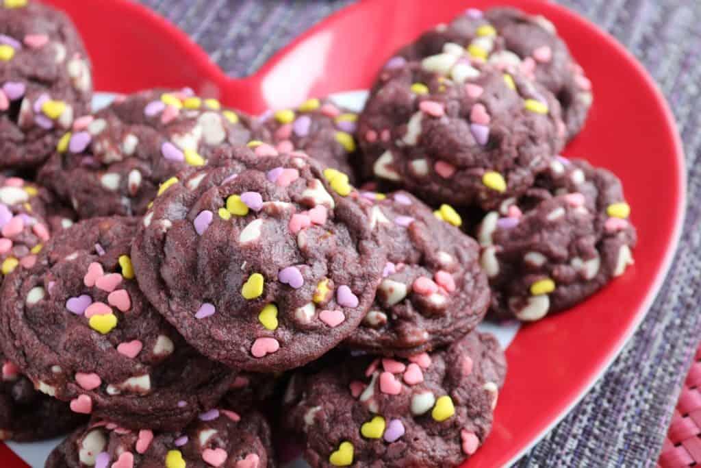 Purple Velvet White Chocolate Chip Cookies 2