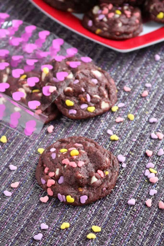 Purple Velvet White Chocolate Chip Cookies 3